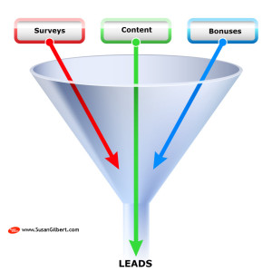 Lead Generation Using Content, Surveys and Bonuses