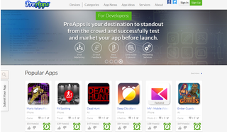 PreApps is a web platform that helps users preview apps before they are released on app stores.