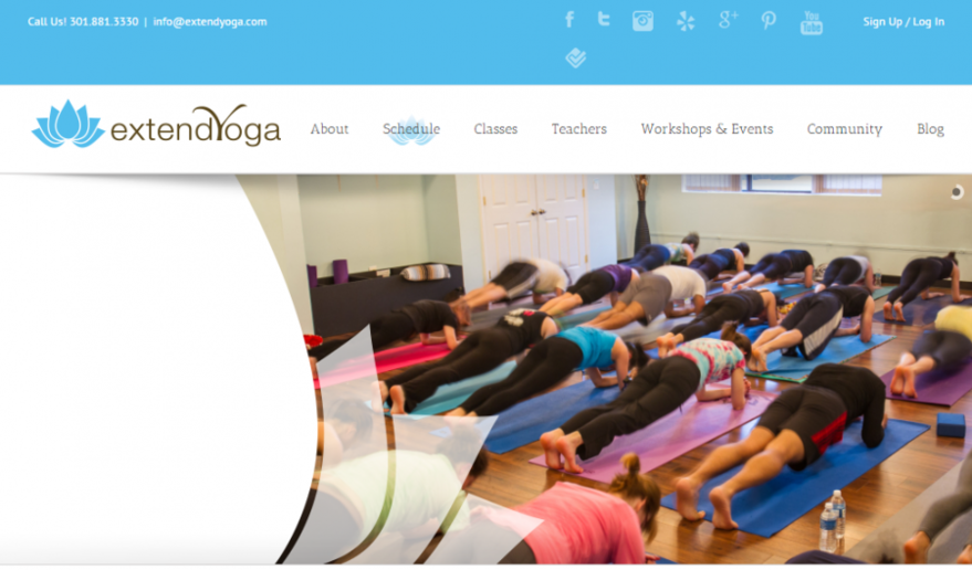 extend yoga website image