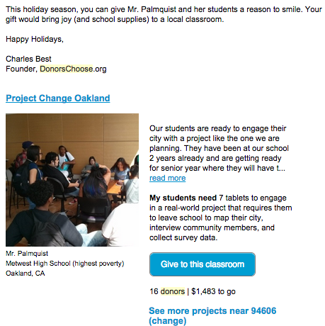 3 Conversion Killers Stifling the Growth of Your Business image DonorsChoose.png