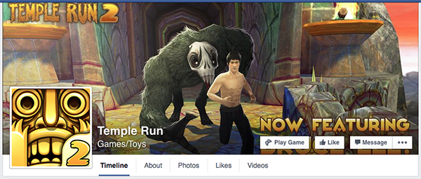 temple run facebook page