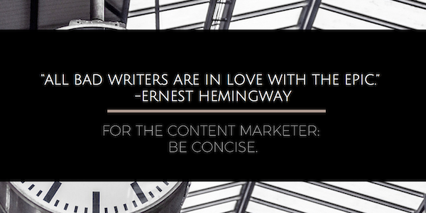 hemingway content creation advice