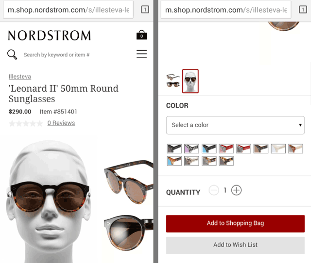 Nordstrom Landing Page