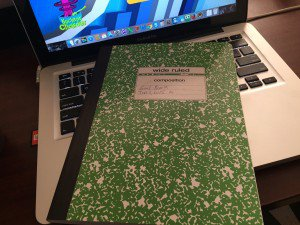 The goal setting notebook