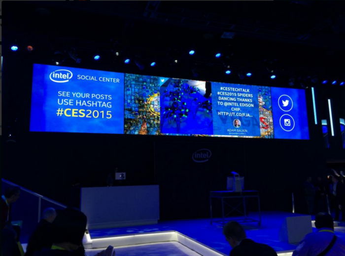 Intel CES Social Media Wall