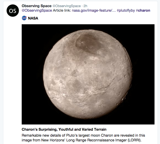 If Your Audience Enjoys Science, You Could Tweet about Charon