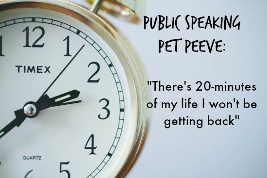 Public Speaking Pet Peeve: Blowing the Close