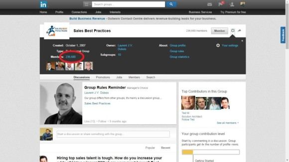 linkedin lead generation tips - see all people in groups