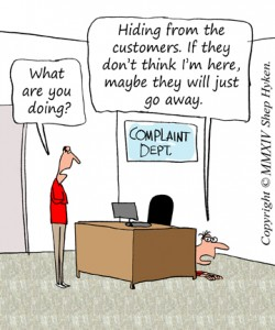 Don't Avoid Customer Complaints Manage Them image Dont Avoid Customer Complaints 250x300.jpg