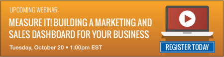 Register for our webinar on building a marketing and sales reporting dashboard for your business