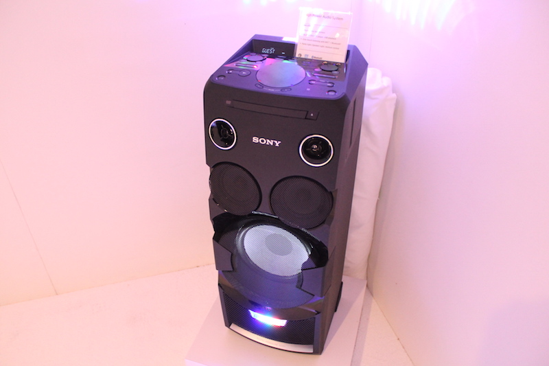 The Sony MHC-V7D with Party Light at CES 2015 is the type of fun ...