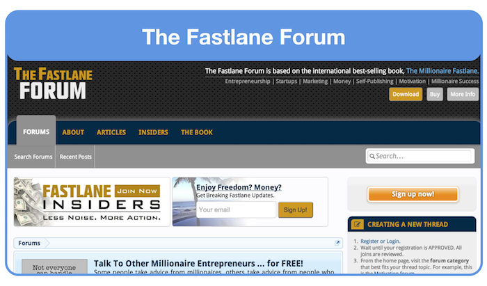ask for landing page feedback on the fastlane forum