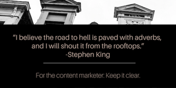 stephen king content advice