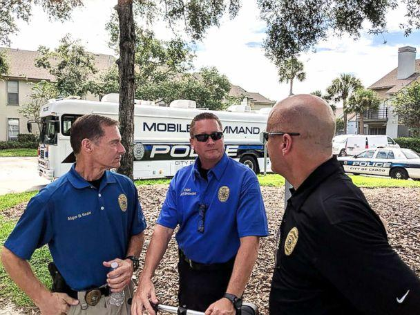 PHOTO: Members of law Enforcement gather during the search for missing toddler Jordan Belliveau. (Largo Police Department)