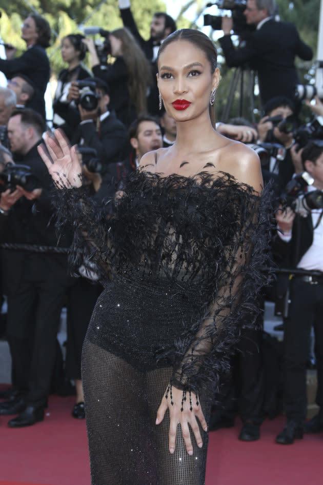 Joan Smalls en la alfombra roja del festival de Cannes.