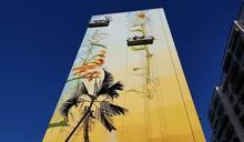 高雄苓雅色彩繽紛 藝術家彩繪24面建物壁畫