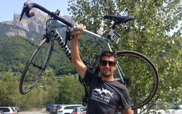 Marc Sutton has been named locally as the British cyclist killed in the French Alps in a hunting accident - Facebook