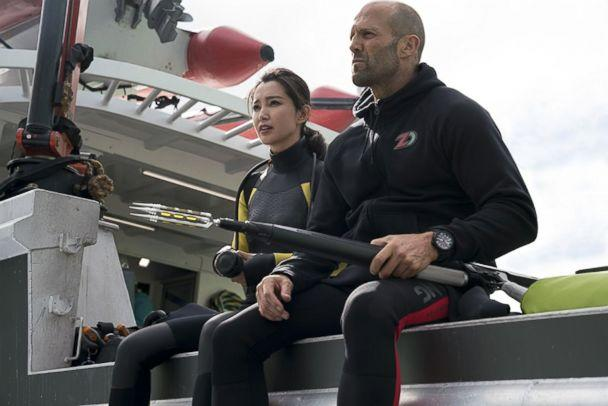 PHOTO: BingBing Li and Jason Statham in a scene from 'The Meg.' (MEG)