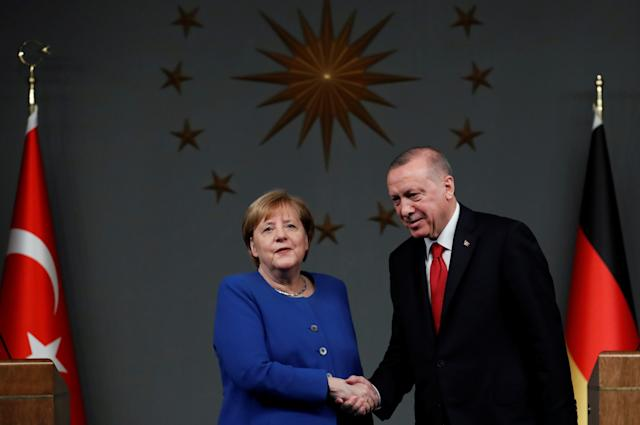 Kanzlerin Merkel beim Treffen mit Präsident Erdogan am 24. Januar (Bild: Reuters/Umit Bektas)