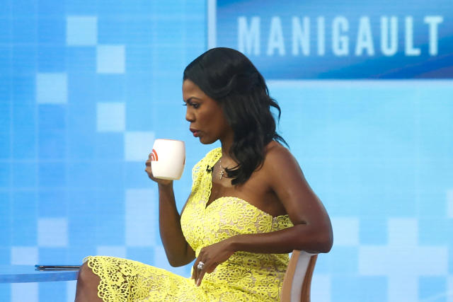 Omarosa Manigualt Newman waits to promote her new book on the