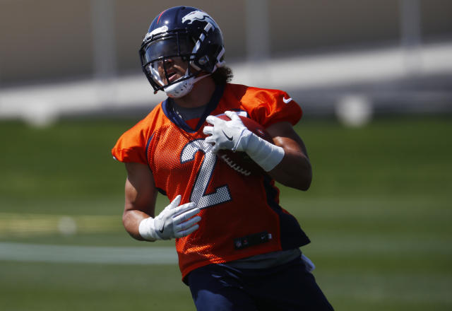 Denver Broncos running back Phillip Lindsay got ejected from Sunday's game for throwing a punch. (AP)