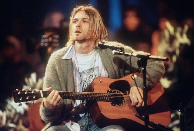 Kurt Cobain in 1993's MTV Unplugged