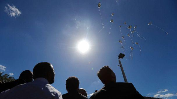PHOTO: Seventeen balloons are released during a vigil at the Parkland Baptist Church, for the victims of the Wednesday shooting at Marjory Stoneman Douglas High School, in Parkland, Fla., Feb. 15, 2018. (Gerald Herbert/AP)
