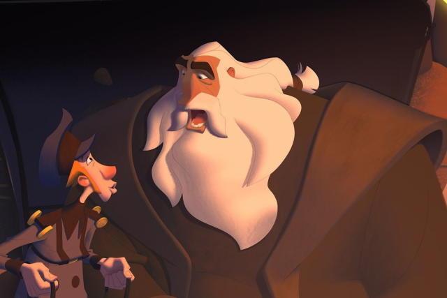 una imagen de klaus de la pelicula