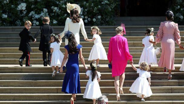 PHOTO: Catherine, the Duchess of Cambridge arrives with the bridesmaids at St George's Chapel at Windsor Castle for the wedding of Prince Harry and Meghan Markle in Windsor, May 19, 2018. (Reuters)