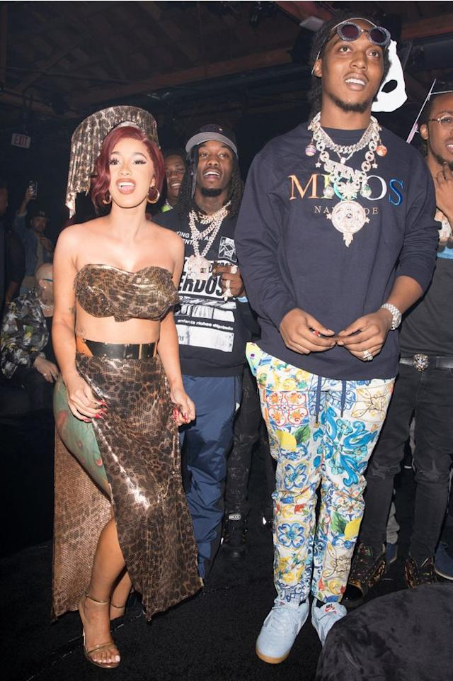 Cardi B and Migos celebrate her 26th birthday, Oct. 11, 2018.