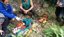 警林聯手逮捕山老鼠起出贓木及毒品