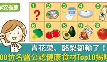 青花菜、酪梨都輸了!300位名醫公認健康食材Top10揭曉