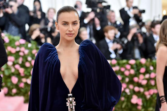 NEW YORK, NEW YORK - MAY 06: Irina Shayk attends The 2019 Met Gala Celebrating Camp: Notes on Fashion at Metropolitan Museum of Art on May 06, 2019 in New York City. (Photo by Theo Wargo/WireImage)
