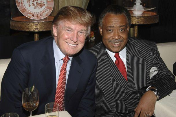 PHOTO: Donald Trump and Rev. Al Sharpton at the Megu Midtown at Trump World Towers in New York City, New York in April 2006. (Jamie McCarthy/WireImage)