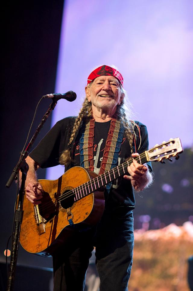 Willie Nelson performs at the 2018 Farm Aid concert in Connecticut. Nelson helped organize the first Farm Aid concert in 1985, and Wisconsin -- a pivotal political state -- hosted the annual event on Saturday, with Nelson again among the performers. (Photo: Ebet Roberts via Getty Images)
