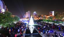 台中全國首座水中耶誕樹點燈 林佳龍:讓舊城區再度綻放光芒