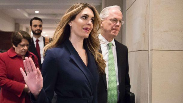 PHOTO: White House Communications Director Hope Hicks, one of President Trump's closest aides and advisers, arrives to meet behind closed doors with the House Intelligence Committee, at the Capitol in Washington, Feb. 27, 2018. (J. Scott Applewhite/AP)