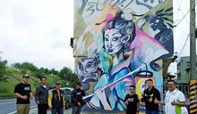 北港媽祖東洋風巨幅畫 在地藝術家飆創意