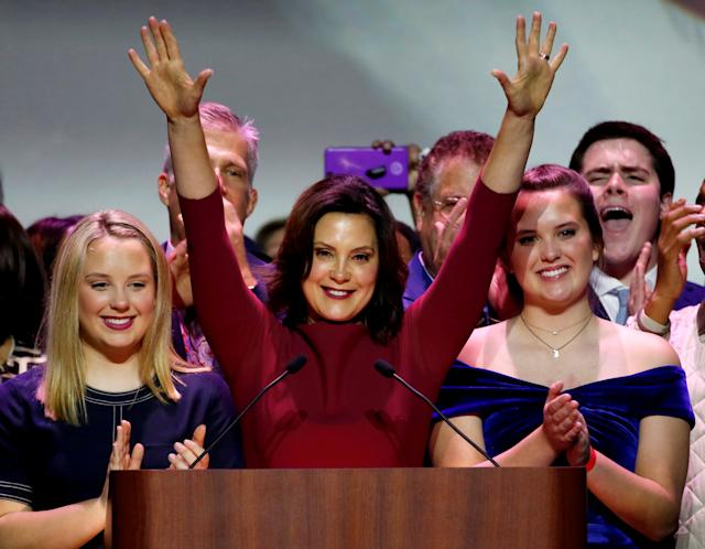 Gov.-elect Gretchen Whitmer was one of a host of Democratic women elected statewide in Michigan. (Reuters)