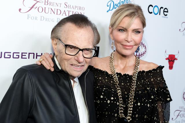 BEVERLY HILLS, CALIFORNIA - SEPTEMBER 07: Larry King and Shawn King attend The Brent Shapiro Foundation Summer Spectacular on September 7, 2018 in Beverly Hills, California. (Photo by Greg Doherty/FilmMagic)