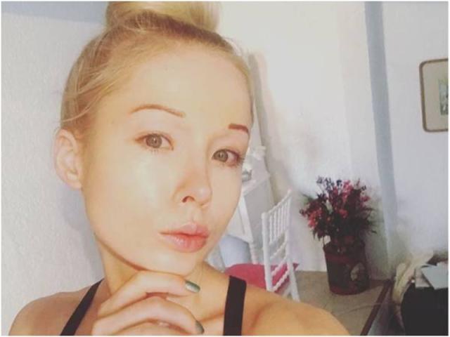 Barbie humana sem maquiagem Reprodução/ Instagram @valeria_lukyanova21