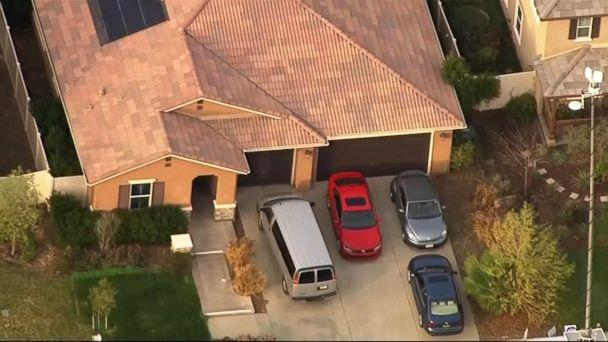 PHOTO: An investigation is underway in Perris, Calif., after 13 siblings ages 2 to 29 were allegedly held captive in a home, some shackled to their beds with chains and padlocks, authorities said. (ABC News)
