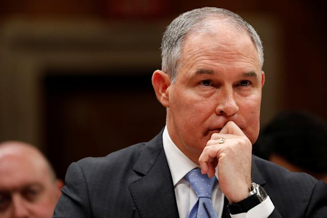 Environmental Protection Agency Administrator Scott Pruitt joins the long list of Trump administration departures. (Aaron Bernstein/Reuters)