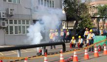 模擬災害應變搶救 中油舉辦天然氣洩漏防災演練