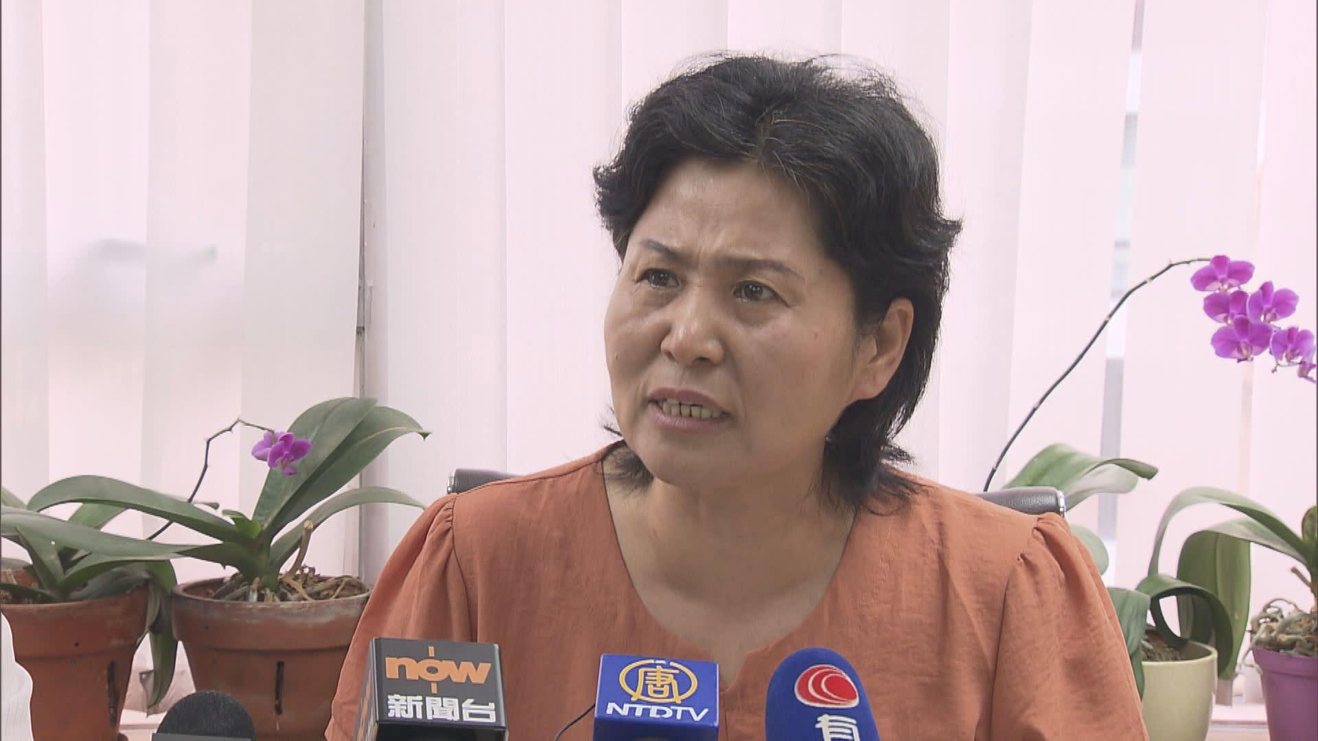 內地維權律師妻子來港參加七一遊行