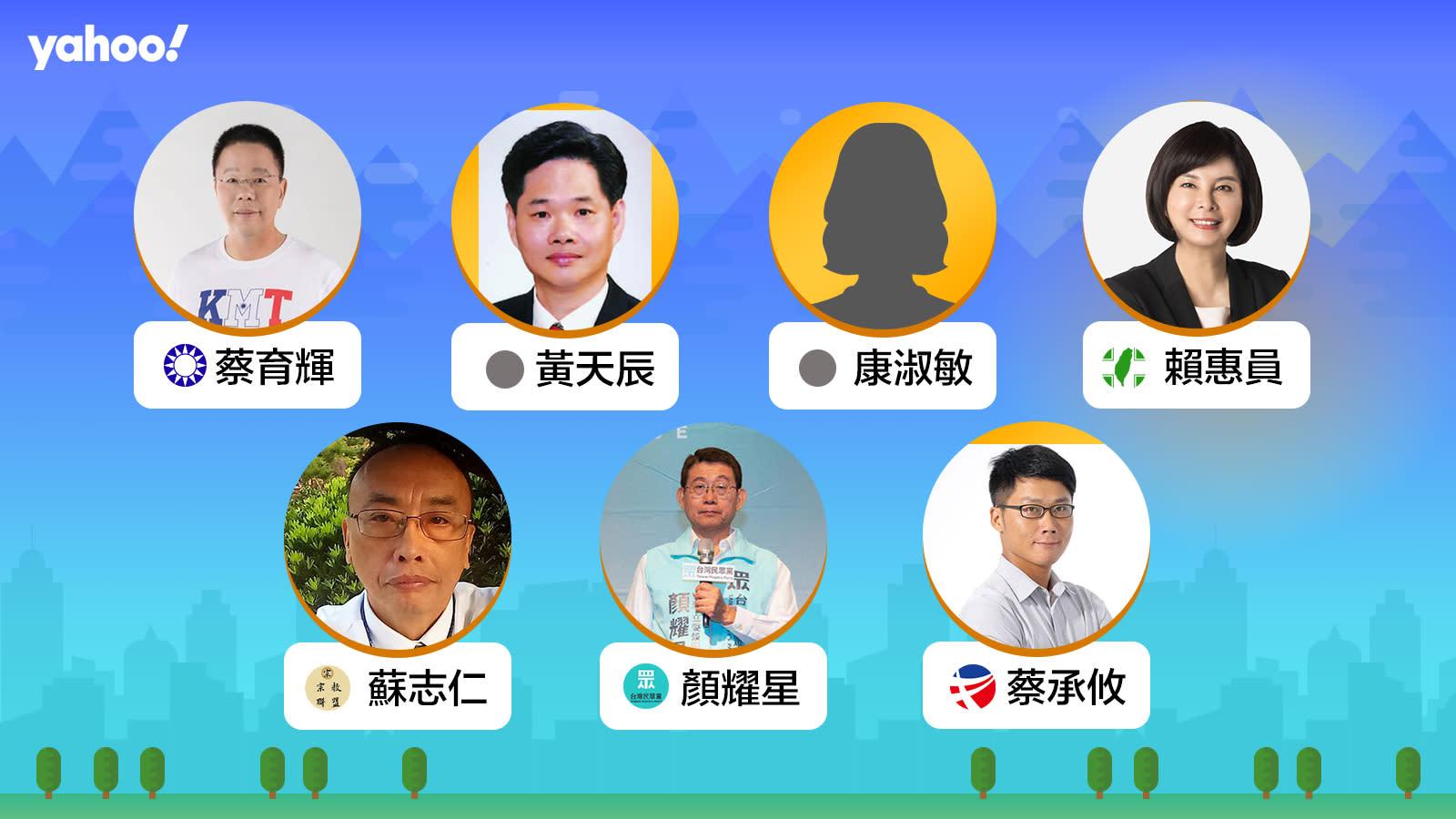 2020立委選舉台南市第一選區(後壁、白河、北門、學甲、鹽水、新營、柳營、東山、將軍、下營、六甲),你支持誰?