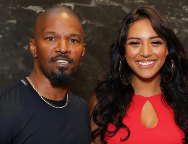 Jamie Foxx and Sela Vave at Michael B. Jordan's MBJAM at Dave & Buster's Hollywood on July 27. (Photo: Tiffany Rose/Getty Images for Lupus LA)