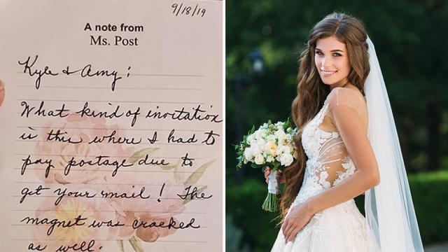 A resposta sarcástica de uma noiva à confirmação da presença de uma convidada saiu pela culatra. Foto: Facebook (esquerda) Getty Image (direita)