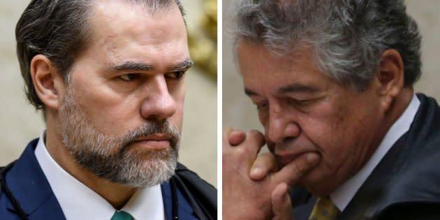 Os ministros do STF Dias Toffoli e Marco Aurélio Mello