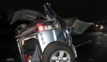 載女出遊被撞翻車 母爬出又遭輾斃